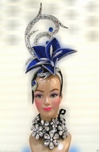 H546 The Impression of Lily Crystal Showgirl Headdress