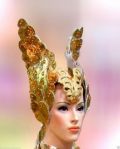 C574H ISIS Warrior Gold Crystal Showgirl Headdress