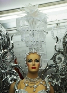 C2A Queen Stage Pageant Feather Chandelier Showgirl Headdress