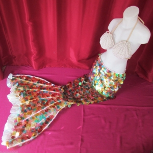 C15 Little Mermaid Shell Showgirl Bra Costume Set