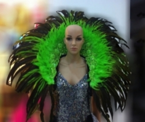 B041 Rainbow Drag Burlesque Vegas Feather Showgirl Backpack