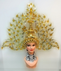 H601 Asian Majestic Angel Crystal Showgirl Headdress