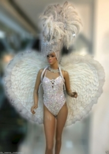 C603 White Pure Heart Angel Costume Set