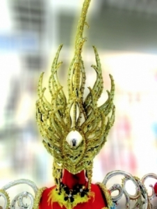 H643 Multi Asian Alien Monster Princess/Prince Crystal Showgirl Headdress