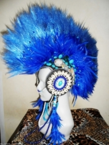 H622 Punk Rock Musician Showgirl Headdress