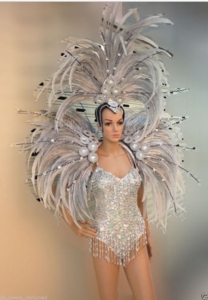 C0707 Showgirl Vegas Costume set