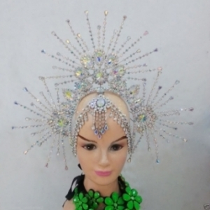 HQC644 Sunshine Princess Carnival Brazilian Rio Carnival Samba Dance Costume  Crystal Crown