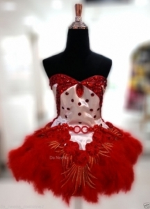 M647 Cute Colorful Lady Showgirl Dress