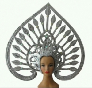 H6011 Asian Majestic Angel Crystal Showgirl Headdress