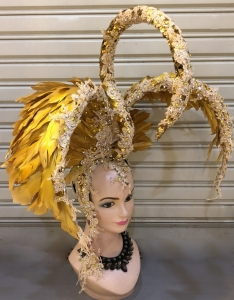H658 Flying Swan Queen Crystal Showgirl Headdress