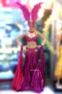 C662A Queen of Paradise Crystal  Costume set
