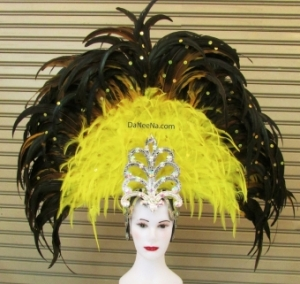 H185 Queen of Eagle Showgirl Pageant Dancer Feather Showgirl Headdress