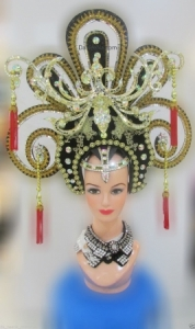 H180 Chinese Asian Asia Lady Showgirl Pageant Dancer Showgirl Headdress