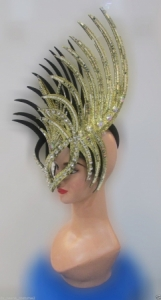 H178 Mask Bird of Paradise Showgirl Pageant Showgirl Headdress