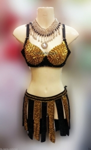 M131 Roman Amazon Showgirl Vegas Stage Dance Dress