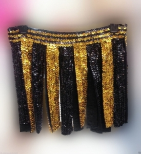 M131 Roman Latin Salsa Samba Showgirl striated Dance Skirt