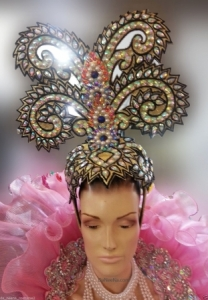 H165 Tree Goddess Showgirl Dance Burlesque Crystal Showgirl Headdress