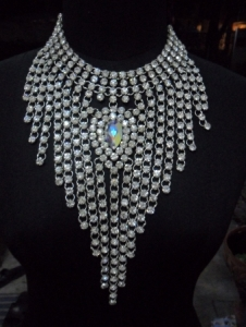 J042C Party Showgirl Vegas Drag Cabaret Crystal Necklace