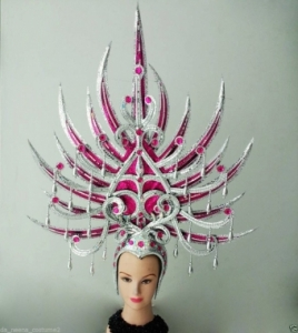 H155 Pitchfork Pronged Spear Devil Prince Princess Warrior Showgirl Headdress