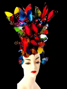 H1544 Alexander Queen Butterfly Showgirl Stage Headpiece Showgirl Headdress
