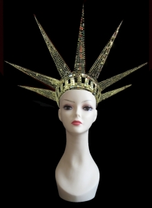 H151 The Statue of Liberty Independence New York Mirror Showgirl Headdress