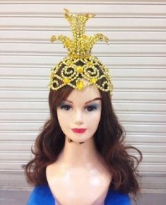 H047 Flower Crystal Crown Showgirl Headdress