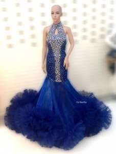 G517A Miss Universe Crystal Gown Dress