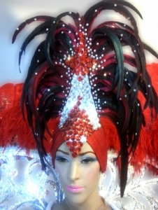 C664H Angel of Heart Crystal Showgirl Headdress