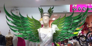 C680 Graceful Angel Showgirl Headdress And Angel Wings