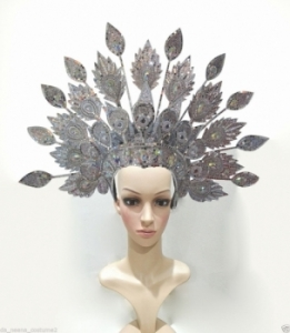 H170 Dancer Thai Asian Peacock Showgirl Headdress