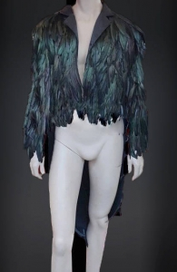 JFF Feather Suit Tuxedo Jacket Showgirl Coat