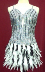 BW Feather Showgirl Dress
