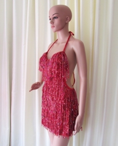 R30 Party Latin Salsa Sequin Showgirl Dress S