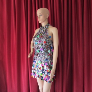 R31 China Girl Showgirl Dress S
