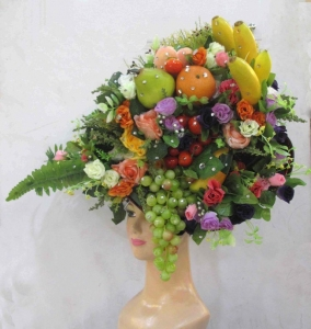 H684 Harvest Fruit Flower Angel Headdress