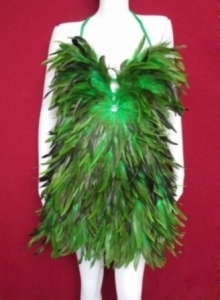 P Feather Showgirl Dress