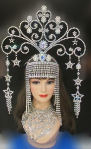 J697 Cleopatra Princess Showgirl Samba Crystal Crowns