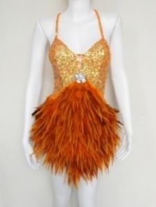FOB Crystal Feather Showgirl Dress
