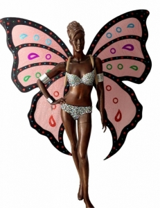 C701 Butterfly Angel Crystal Costume set