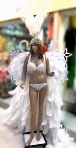 C707 White Angel Costume set