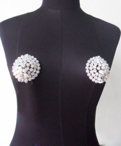 J032 Showgirl Crystal Nipple Pasties