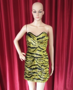 R53 Tiger Sexiest Showgirl Dress XS