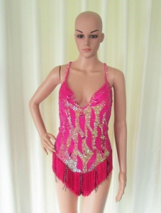 M077 Moulin Rouge Bodysuit Leotard