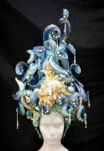 H779 Shell Sea Ocean Water Poseidon Showgirl Headdress