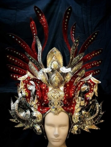 H780 Seaweed Asian Princess Showgirl Headdress