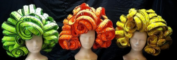 H784 Wavy Curly Pretty Girl Showgirl Headdress