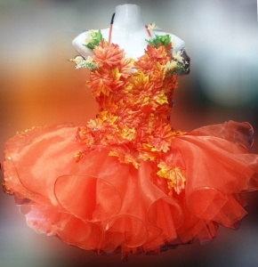 M800 Autumn Girl Showgirl Dress
