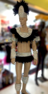 C0734 Carnival Brazilian Rio Carnival Samba Dance Costume  Feather Showgirl Headdress Men Man Costume Set