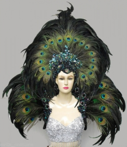 MUL Peacock Backpiece Headdres