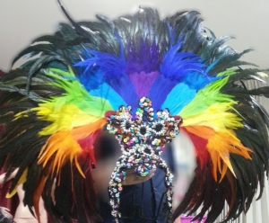 RB2 Rainbow Showgirl Headdress